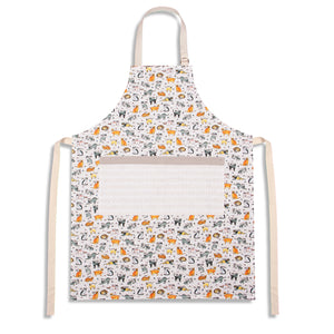 Curious Cats Canvas Apron