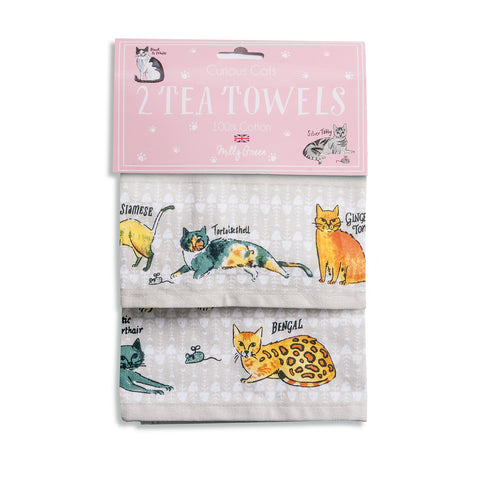 Curious Cats Tea Towels