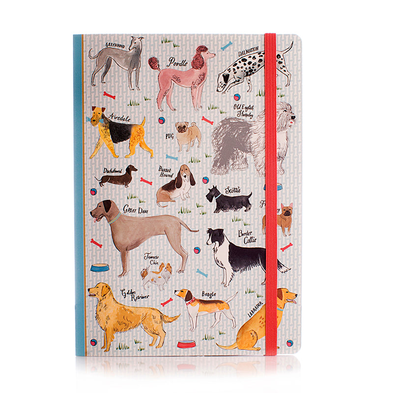 Debonair Dogs A5 Soft Bound Notebook