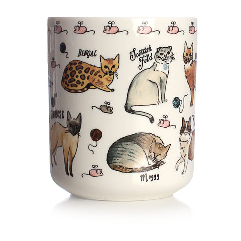 Curious Cat Ceramic Pen Pot