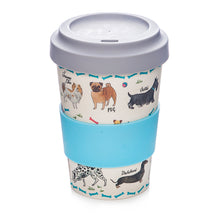 Load image into Gallery viewer, Debonair Dog Bamboo Coffee Travel Mug