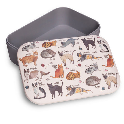 Curious Cats Bamboo Lunch Box