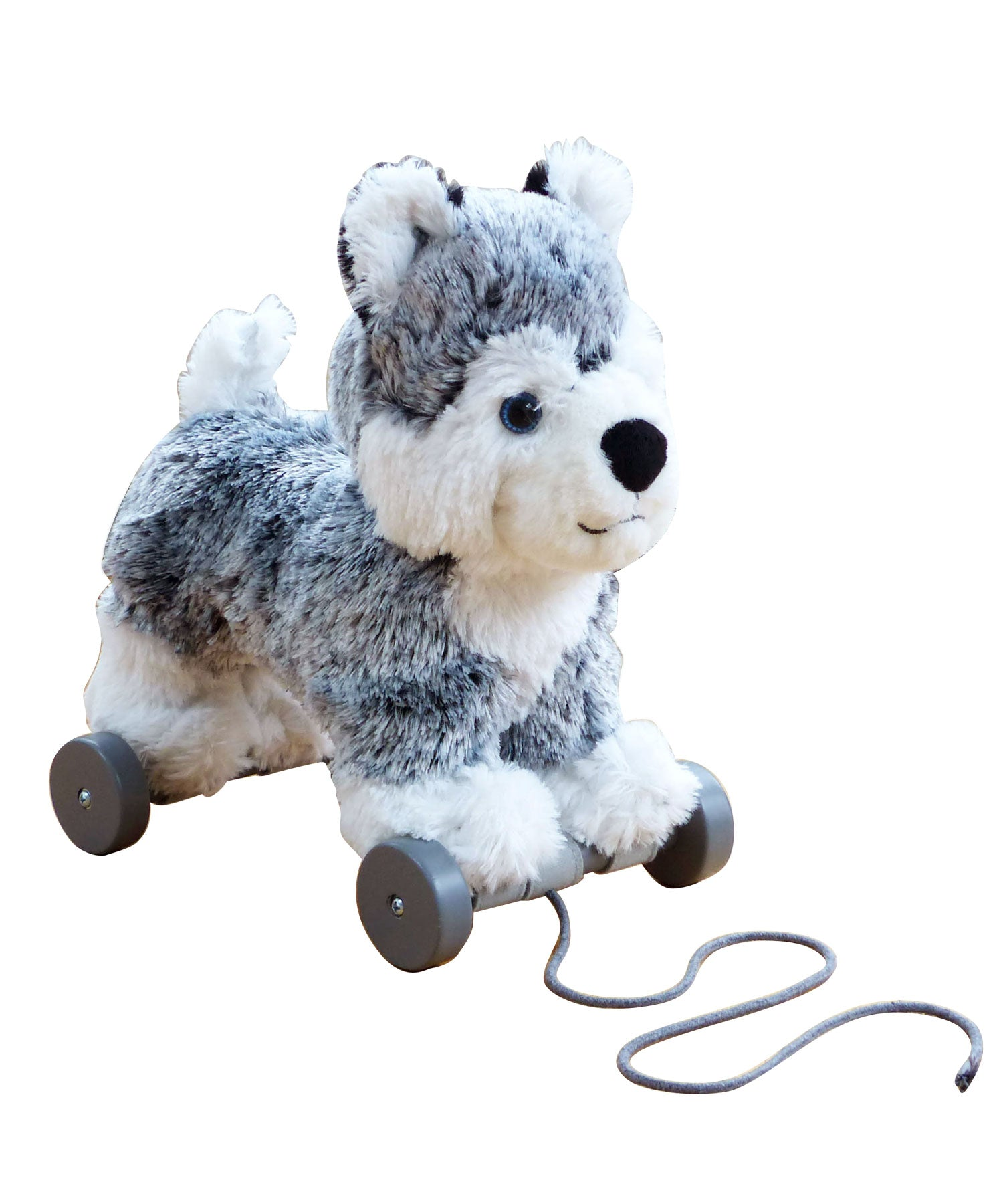 Mishka Pull-Along Dog Plush Toy