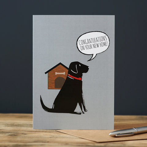 New Home Greeting Card - Black Labrador