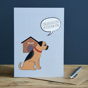 New Home Greeting Card - Border Terrier