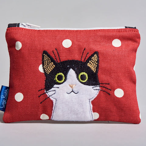 Clojo Coin Purse - Black & White Cat
