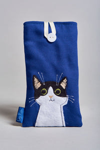 Clojo Eyeglass Case - Black and White Cat