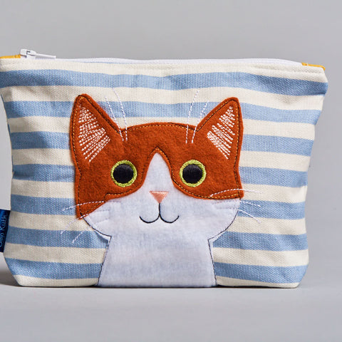 Clojo Make Up Bag -  Ginger Cat