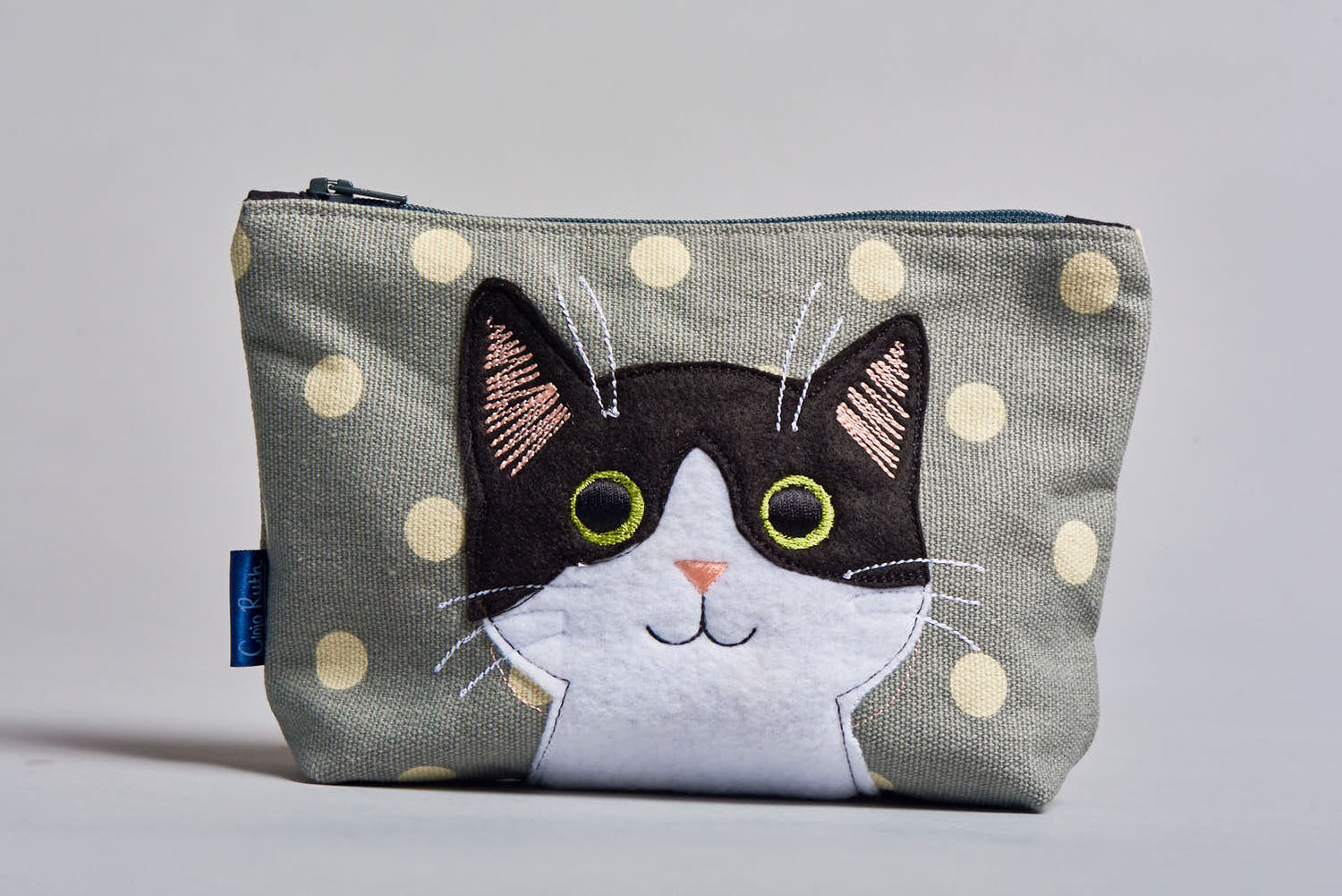 Clojo Make Up Bag - Black & White Cat