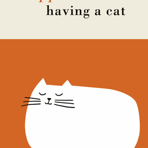 Single Greeting Card - Happiness is Having a Cat