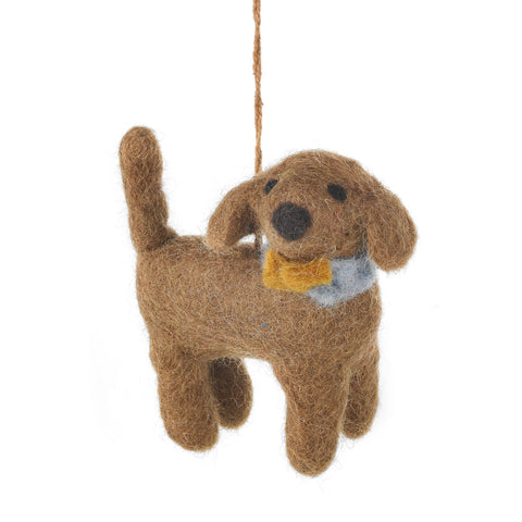 Felt Dog Decoration: Sahara