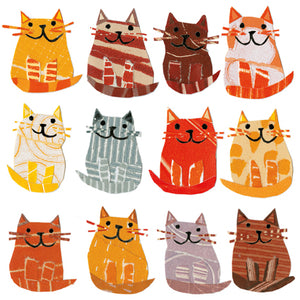 Single Greeting Card - Cats in a row
