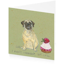 Load image into Gallery viewer, Hector the Birthday Pug - Single Greeting Card