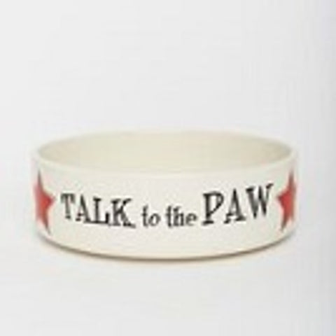 Talk to the Paw Pet Bowl