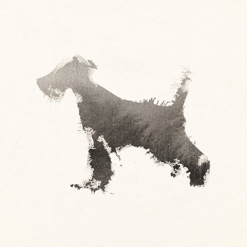 Single Greeting Card - Watercolour Schnauzer