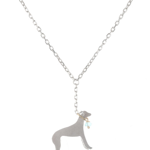 'Whippet on a Lead' Necklace by Amanda Coleman
