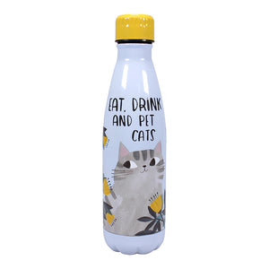 Planet Cat Eat, Sleep and Pet Cats Water Bottle