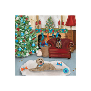 Christmas Eve Dogs Christmas Card Pack