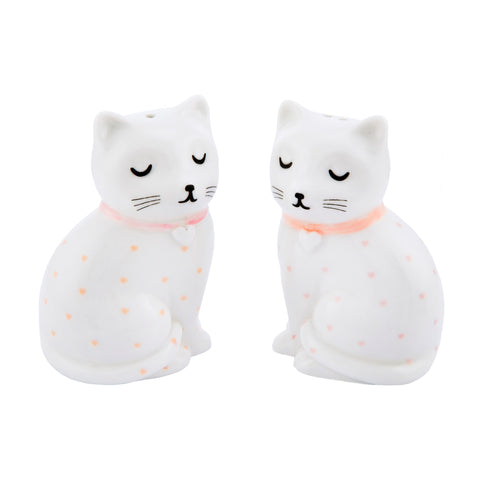 Cutie Cat Salt and Pepper Shaker Set