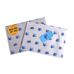 Battersea Grey Gift Wrap Set - Cat