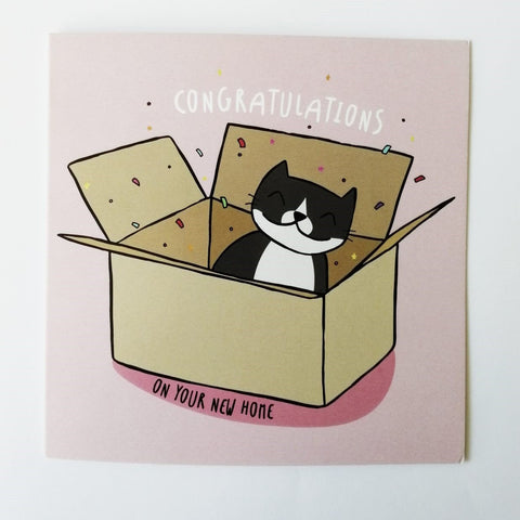 'Congratulations on your New Home' Cat Greeting Card