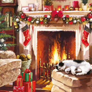 Cosy Cat Christmas Card