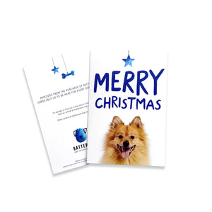 Battersea Christmas Card Pack - Pomeranian