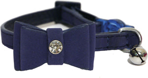 Bow Tie Cat Collar - Navy