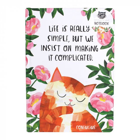 'Life is Simple' Cat Notebook