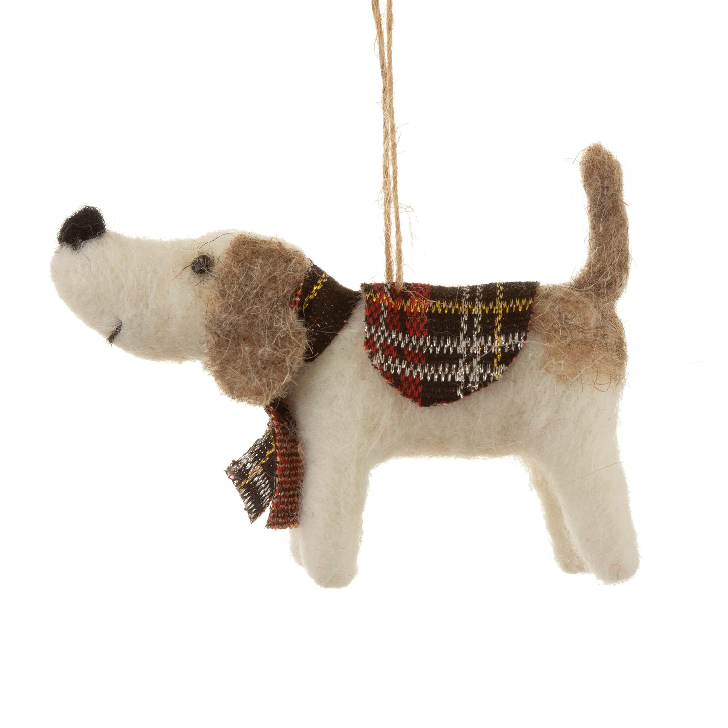 Tartan Dog Felt Decoration