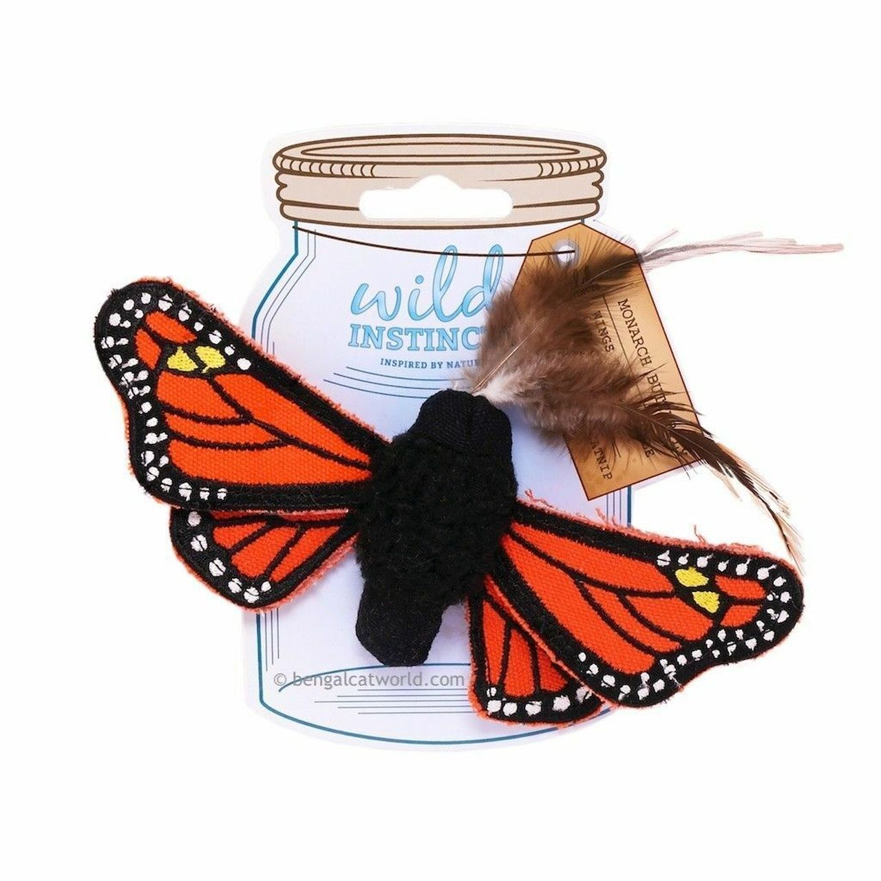 Wild Instincts Catnip Toy - Monarch Butterfly