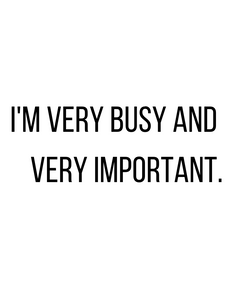 I'M VERY BUSY AND VERY IMPORTANT t-shirt