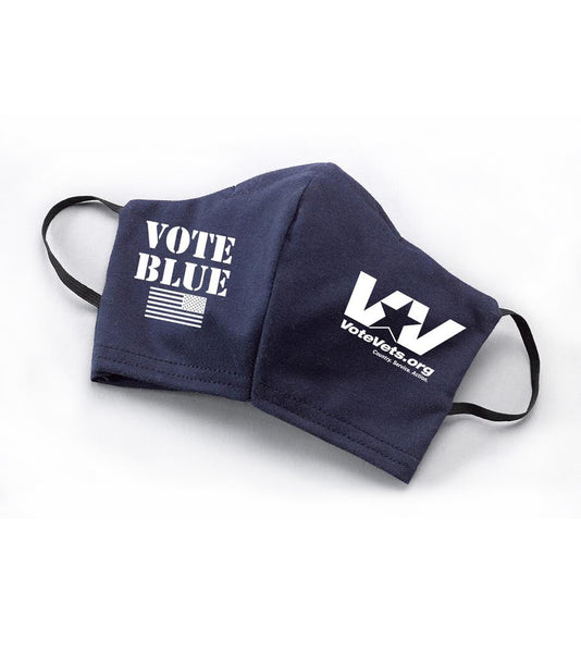 VoteVets VOTE BLUE Mask