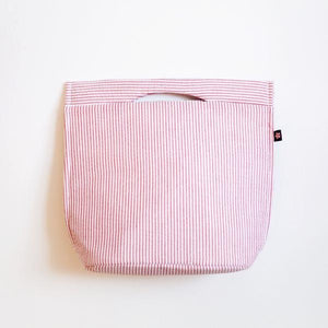Small Seersucker Cooler Tote