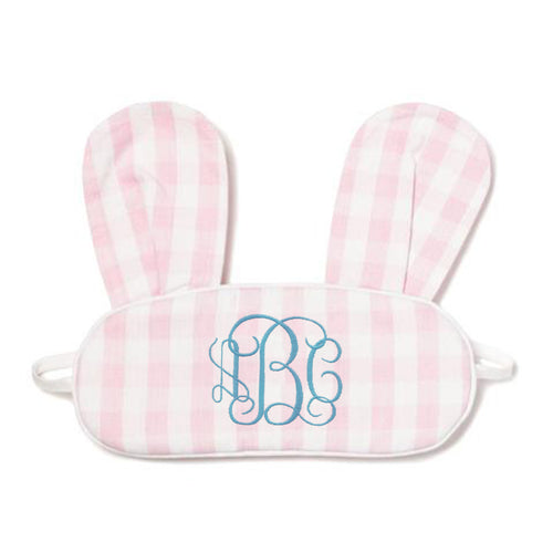 Gingham Bunny Eye Mask