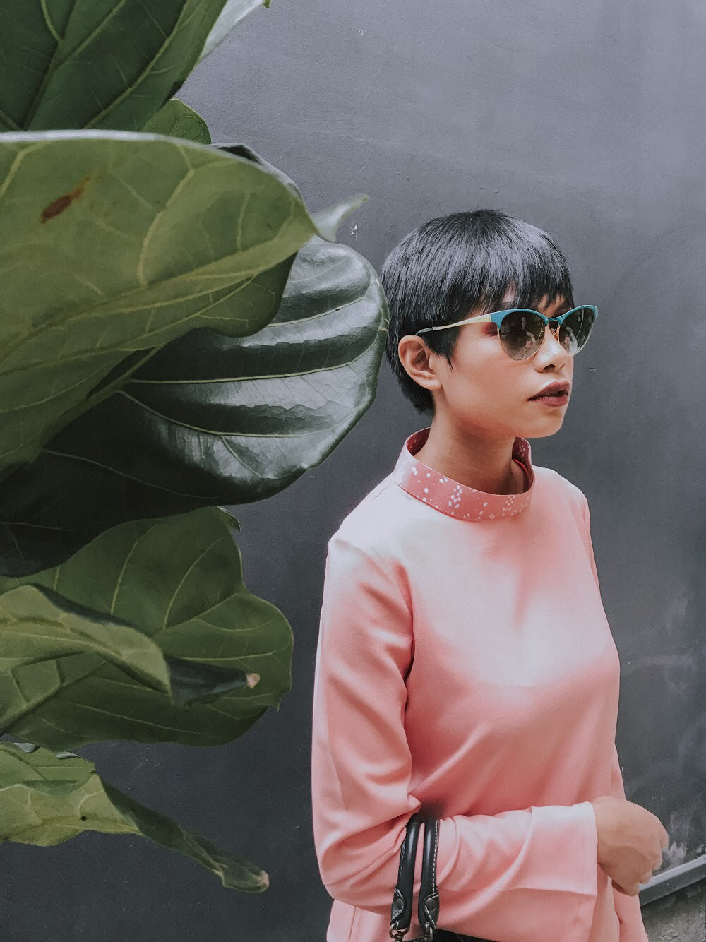 Bunga Kantan Turtleneck Collar (Coral)