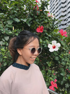 Bunga Kantan Turtleneck Collar (Cream)