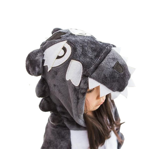 Kids Black Wolf Onesies