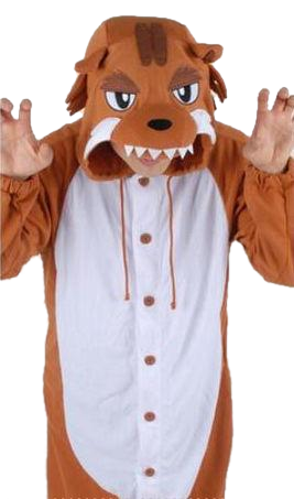 Brown Angry Wolf Onesies