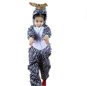 Kids White Zebra Cosplay Onesies