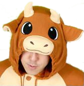Stylish Brown Bull Onesies