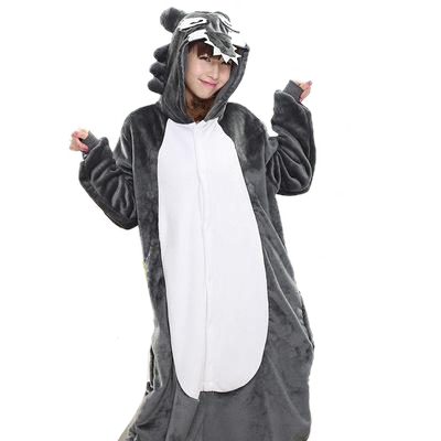 Adults Black Wolf Onesies