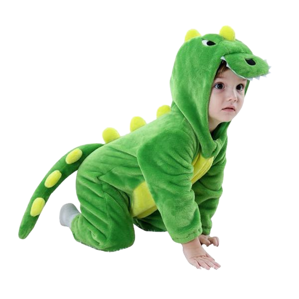 Cute Green Kiddie Dino Onesie