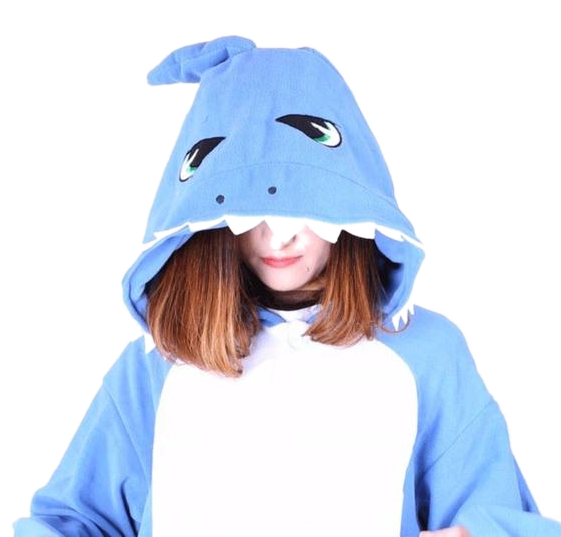 Light Blue Shark Cosplay Onesies