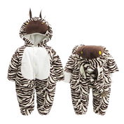 Baby Zebra Hooded Onesies