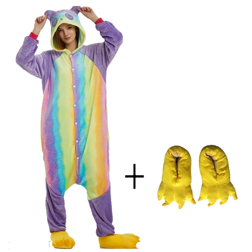 Purple Rainbow Panda Onesies