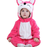 Kids Stylish Pink Fox Onesies
