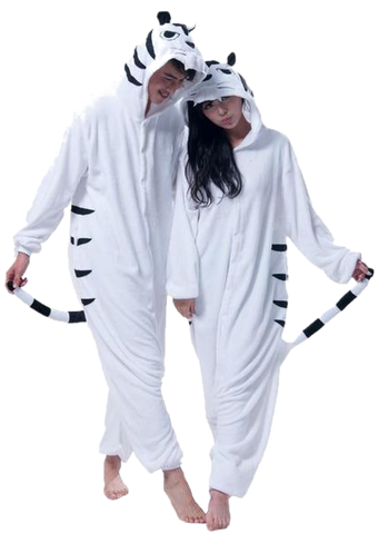 Adult White Tiger Onesies