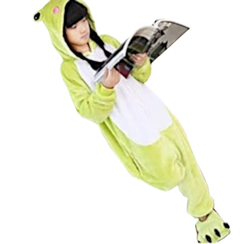 Kids Light Green Frog Onesies
