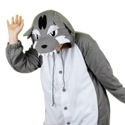 Gray Angry Wolf Onesies